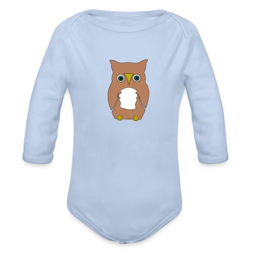Derpi Owl - Baby Bio-Langarm-Body