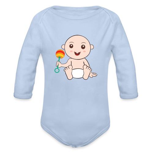 Glückliches Baby - Baby Bio-Langarm-Body