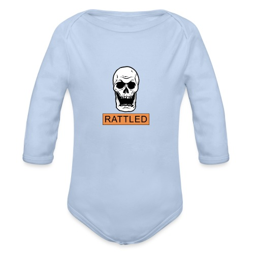 Rattled Spooky Halloween Skeleton Meme - Organic Longsleeve Baby Bodysuit