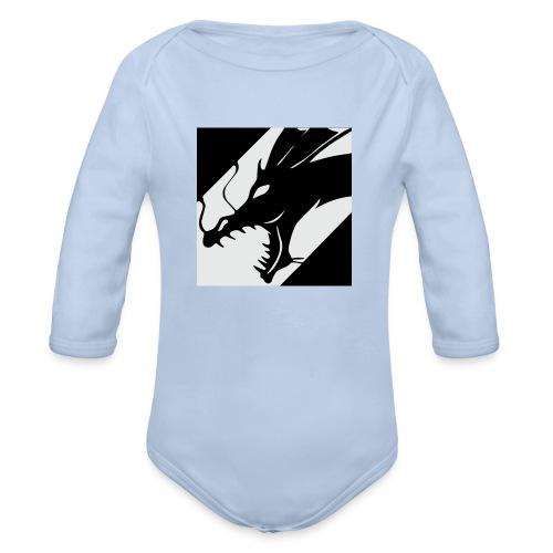 Dragon White - Baby bio-rompertje met lange mouwen