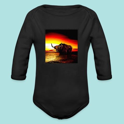 Wandering_Bull - Organic Longsleeve Baby Bodysuit