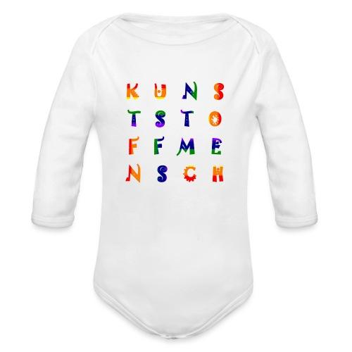 KunstStoffMensch #6 - Rainbow Edition - Baby Bio-Langarm-Body