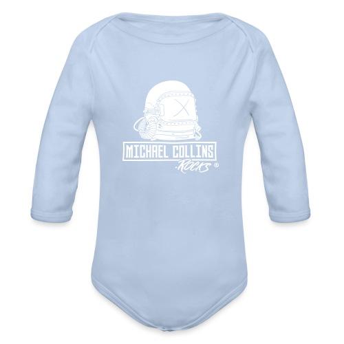 michaelcollins.rocks Logo Astronaut - Baby Bio-Langarm-Body