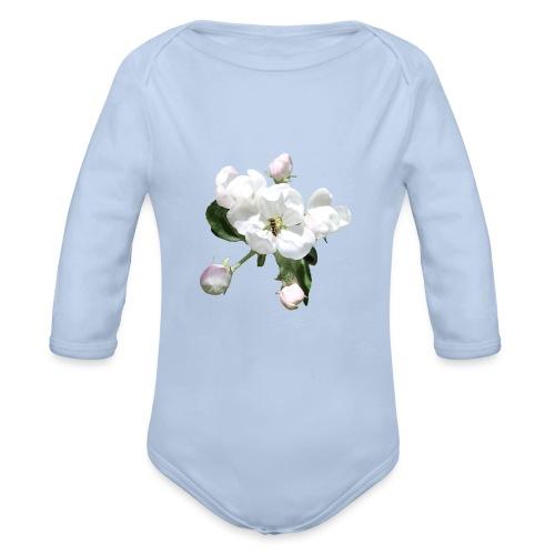 Omenankukka ja kukkakärpänen - Vauvan pitkähihainen luomu-body