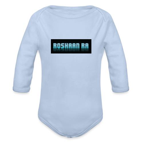 ROSHAANRA BLUE LOGO LIMTED EDITION - Organic Longsleeve Baby Bodysuit