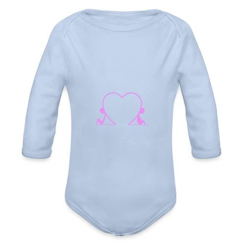 Distanti, ma vicini... PINK - Body ecologico per neonato a manica lunga