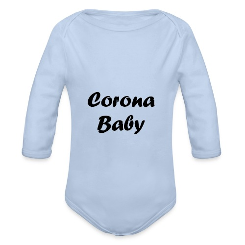 Corona baby merchandise black - Organic Longsleeve Baby Bodysuit