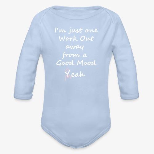 Good Mood Quote design patjila - Organic Longsleeve Baby Bodysuit