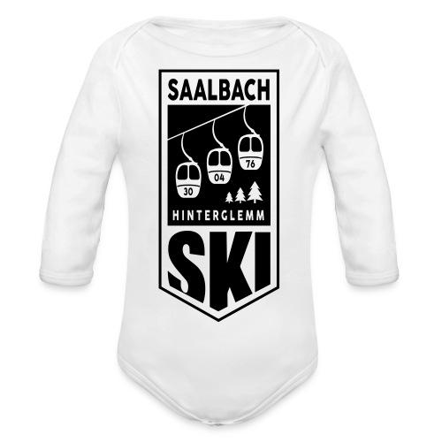 SKI embleem Saalbach - Baby bio-rompertje met lange mouwen