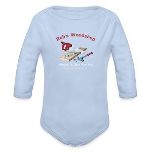 Rob's Woodshop shirt - Organic Longsleeve Baby Bodysuit