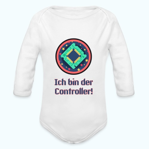 I am the controller - Organic Longsleeve Baby Bodysuit