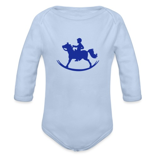 Rocking Horse - Boy - Baby Bio-Langarm-Body