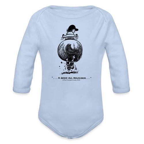 Thelwell Cartoon Pony Galopp - Baby Bio-Langarm-Body
