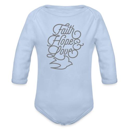 Faith Hope and Love - Baby Bio-Langarm-Body