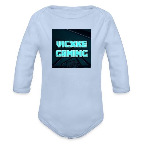 Vic_Logo - Baby bio-rompertje met lange mouwen