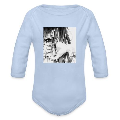 anime - Body orgánico de manga larga para bebé