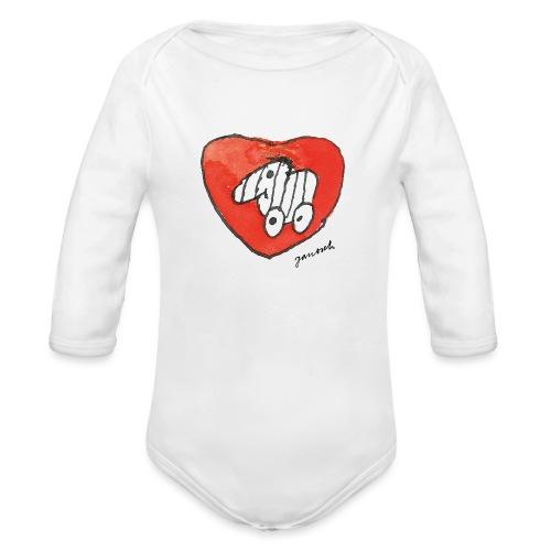 Janosch Tigerente Großes Rotes Herz - Baby Bio-Langarm-Body