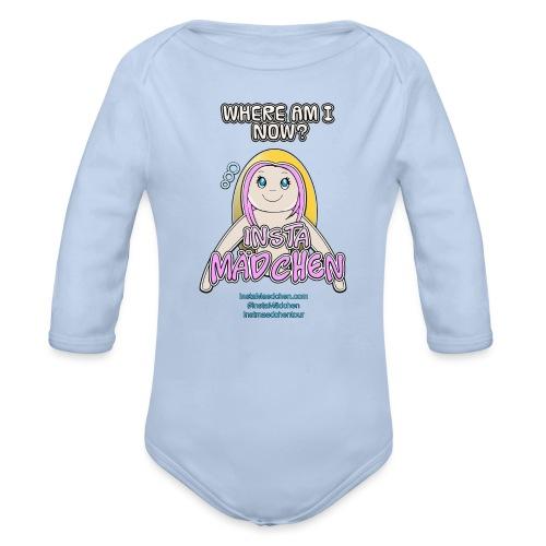 InstaMädchen Shirt - Baby Bio-Langarm-Body