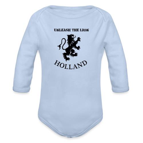 HOLLAND Unleash the LION - Baby bio-rompertje met lange mouwen