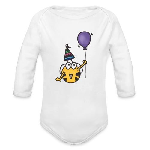 Feierbiene - Baby Bio-Langarm-Body