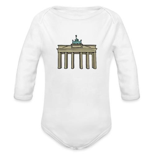 Berlin Brandenburger Tor - Baby Bio-Langarm-Body