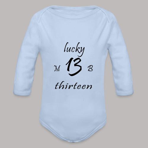 lucky 13 MB - Organic Longsleeve Baby Bodysuit