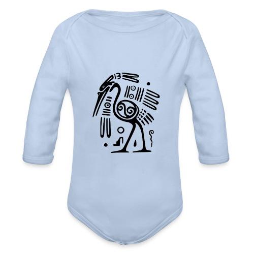 Kranich - Baby Bio-Langarm-Body
