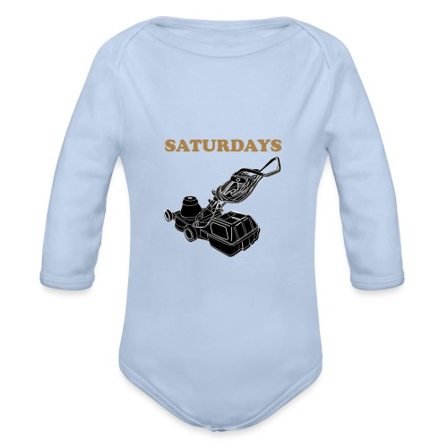 Saturdays Lawnmower - Organic Longsleeve Baby Bodysuit
