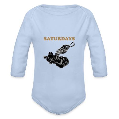 Saturdays Lawnmower - Organic Longsleeve Baby Bodysuit