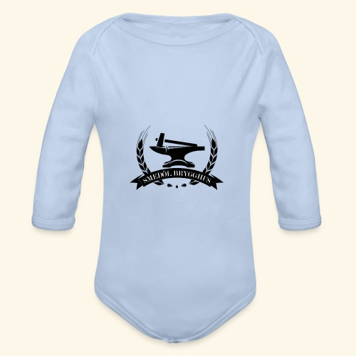 smedolvector svart - Ekologisk långärmad babybody