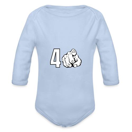 4 You - Body orgánico de manga larga para bebé