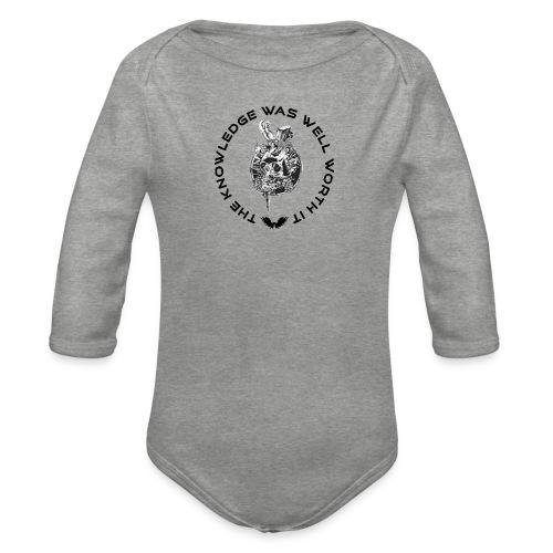Knowledge WhiteSkull - Vauvan pitkähihainen luomu-body