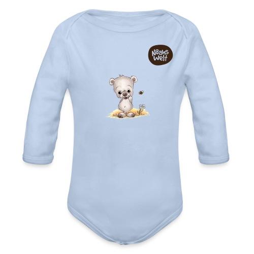 Noah der kleine Bär - mit Logo - Baby Bio-Langarm-Body