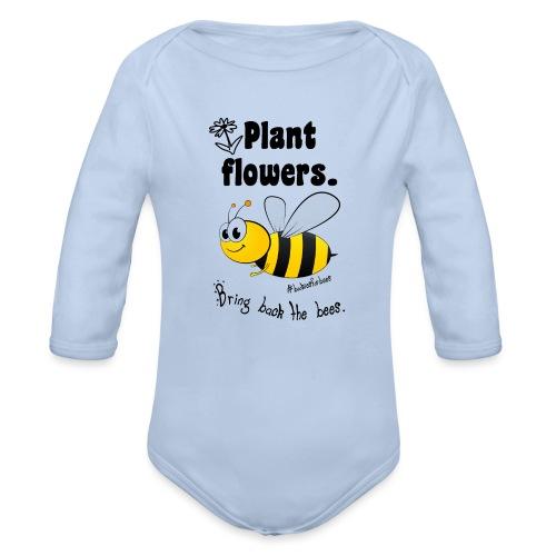 Bees8-1 Bringt die Bienen zurück! | Bookrebels - Organic Longsleeve Baby Bodysuit