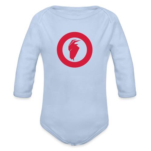 fjellgeiteneno symbol - Økologisk langermet baby-body