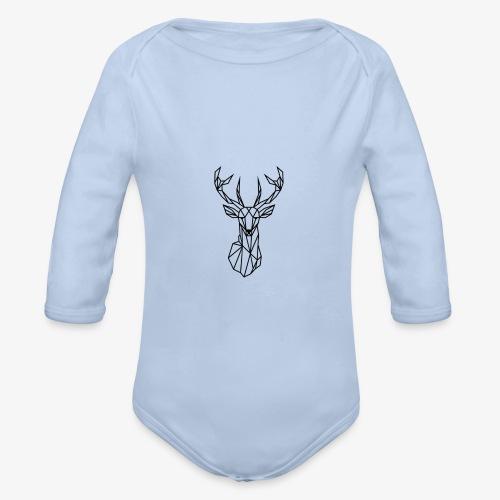 Ciervo geometrico - Body orgánico de manga larga para bebé