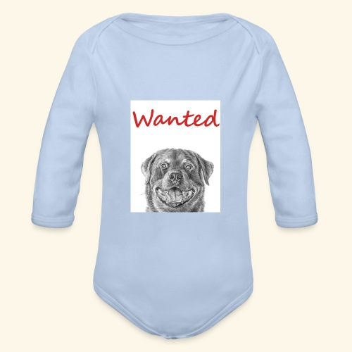 WANTED Rottweiler - Organic Longsleeve Baby Bodysuit