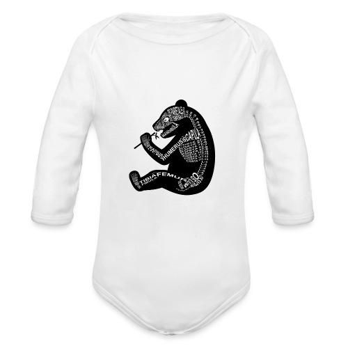 Panda skelet - Baby bio-rompertje met lange mouwen