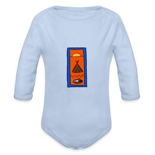 Samisk motiv - Økologisk langermet baby-body