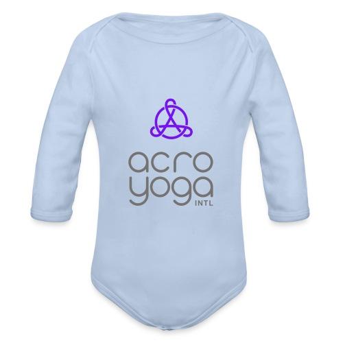 AcroYoga International Logo - Organic Longsleeve Baby Bodysuit