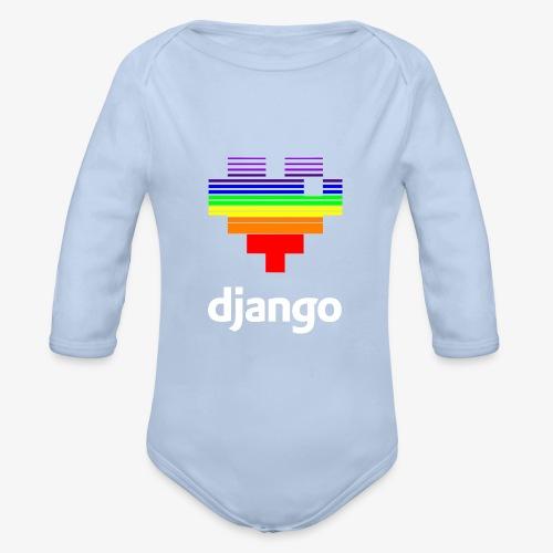 heart pride white - Organic Longsleeve Baby Bodysuit