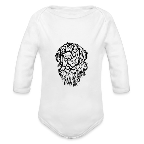 Neufundländer Kopf - Baby Bio-Langarm-Body