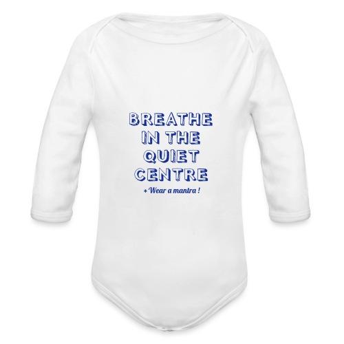 BREATHE IN THE QUIET - Body ecologico per neonato a manica lunga