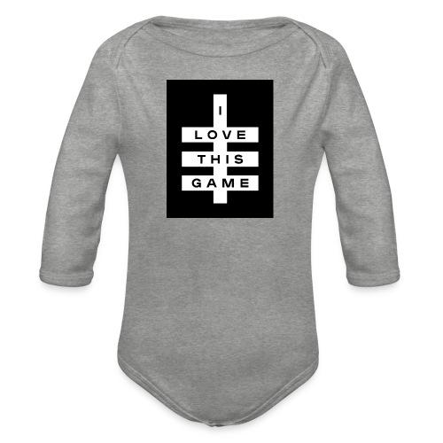 I love this game logo - Organic Longsleeve Baby Bodysuit