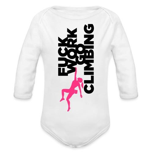 Go Climbing girl! - Organic Longsleeve Baby Bodysuit