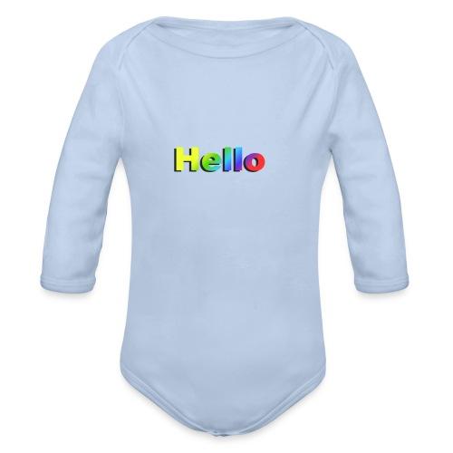 Hello - Ekologiczne body niemowlęce z długim rękawem