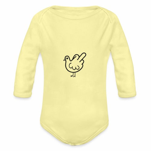 Huhn mit Mittelfinger - Baby Bio-Langarm-Body