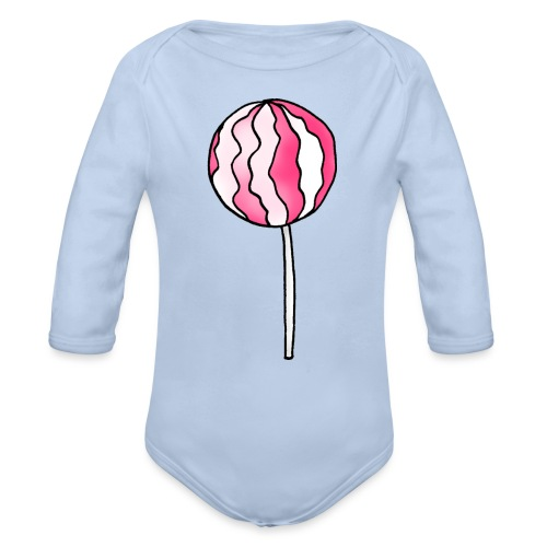 Lollipop Erdbeer-Sahne - Baby Bio-Langarm-Body