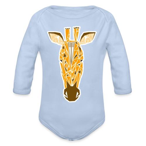 girafe contour png - Body Bébé bio manches longues