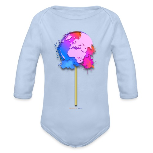 TShirt lollipop world - Body Bébé bio manches longues